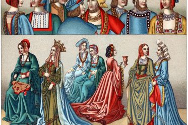 France, fashion, Middle Ages. history, Medieval, 15th century, costumes,