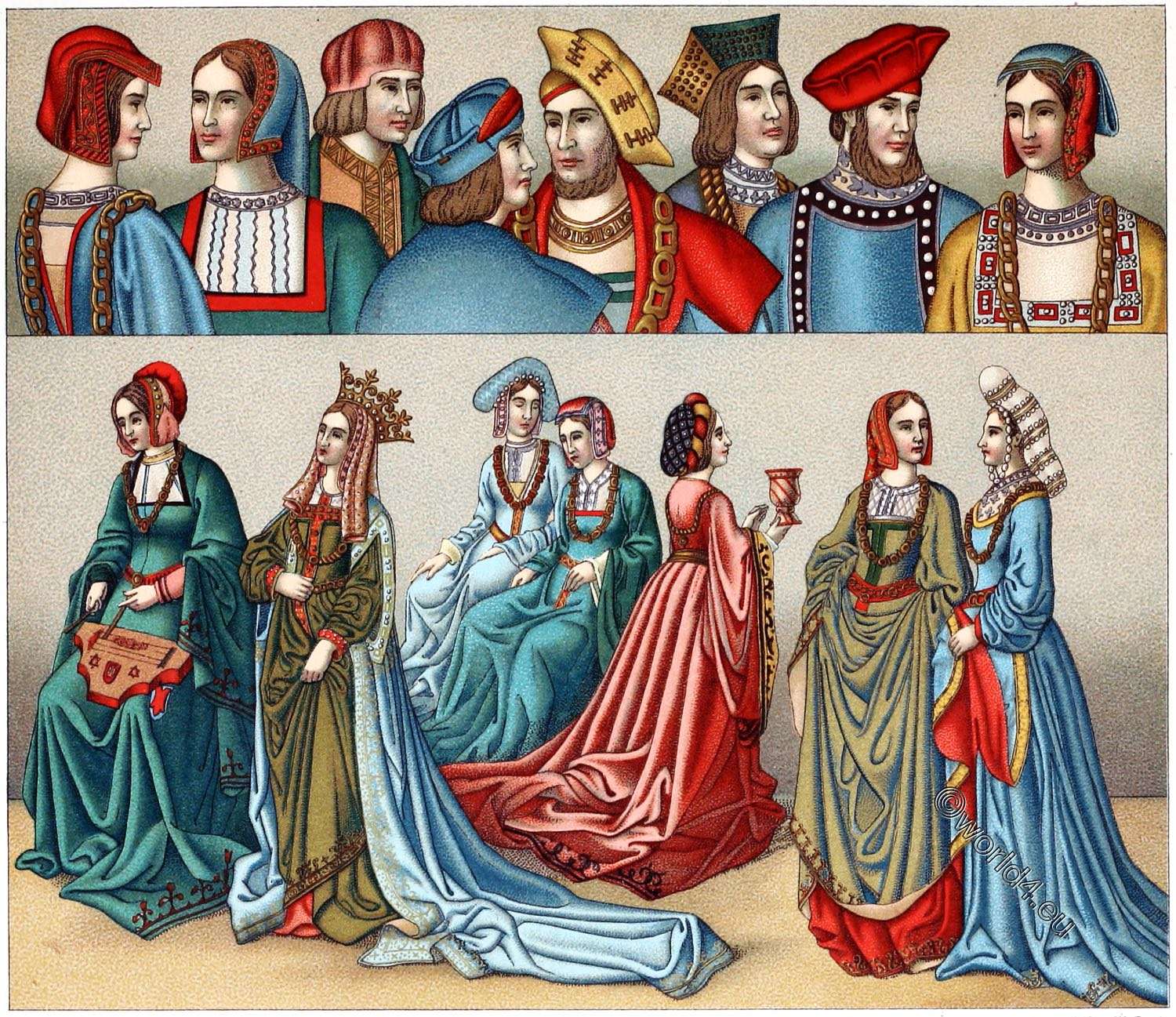 Civil Dress Of The Late 15th Century France Middle Ages