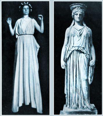 Ancient, robe, Greek, robe, pleat, Vatican Caryatid,