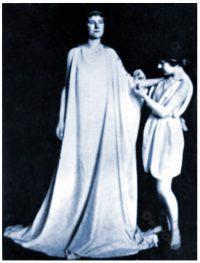 Ancient, Greek, woman, dressing