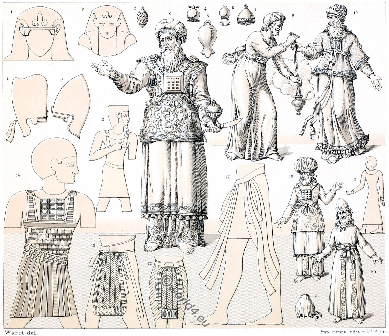 Hebrew Jewish Clothing Of Antiquity Levites Jewish High Priest