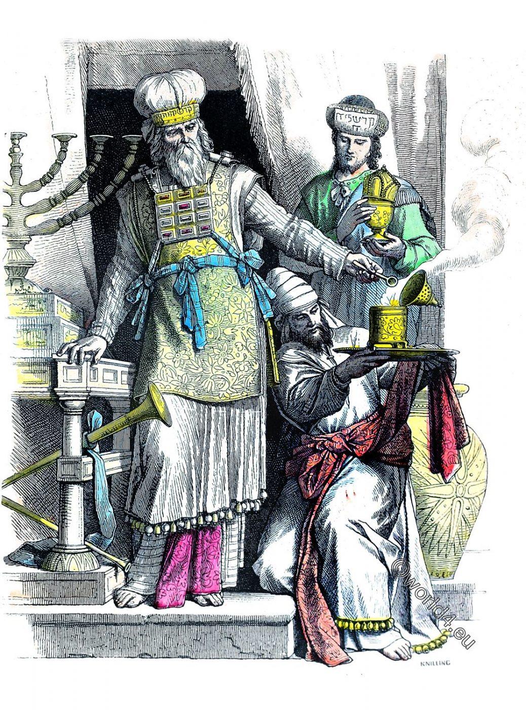 Jewish, high priest, Levites, costumes, dresses, antiquity