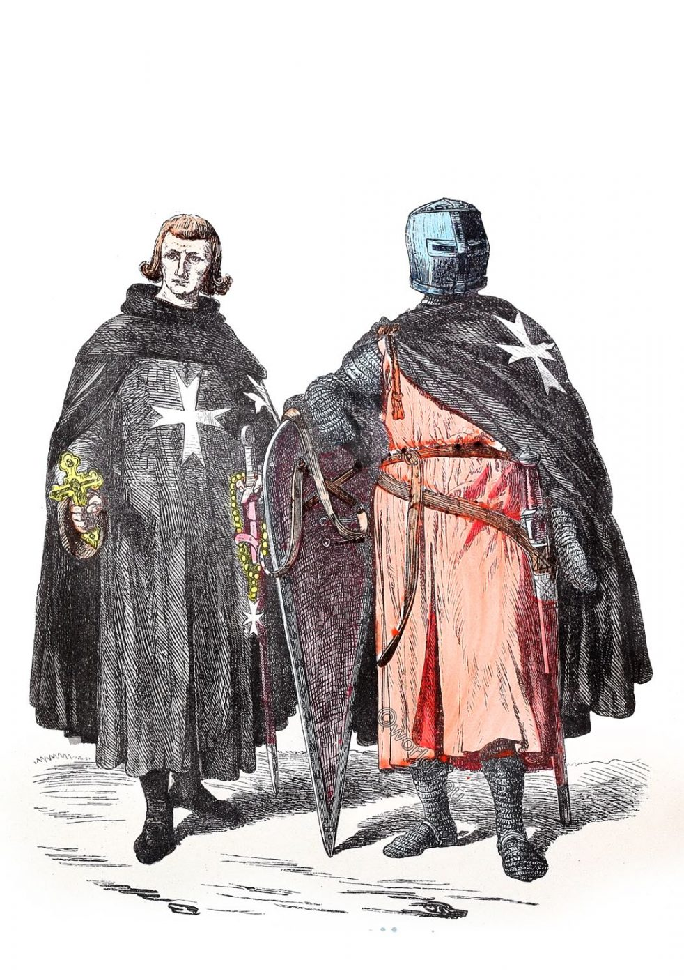 Knights, hospitaller, Order, St John, Malta, 11th century, Crusade, Middle ages,