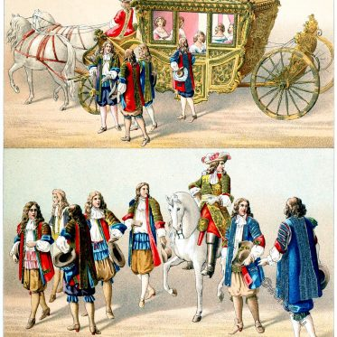 Louis XIV, Livery, Arras, state carriage, coach, baroque, France, clothing, costumes