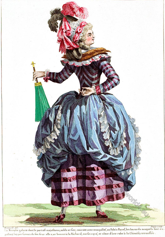 Robe, Chinoise, retroussée, Rococo, fashion, costumes, Français