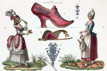 Female, costumes, Shoe fashion, rococo, costumes, high heels