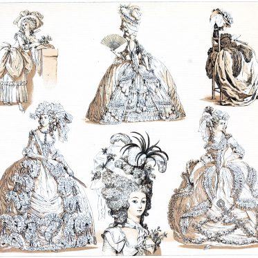 France, state, robe, rococo, fashion, costumes,