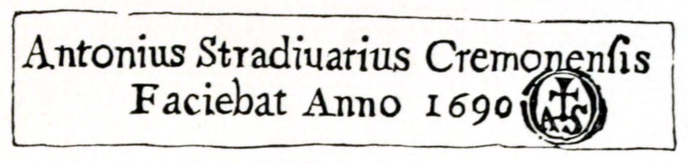 Antonius, Stradivarius, Cremonensis