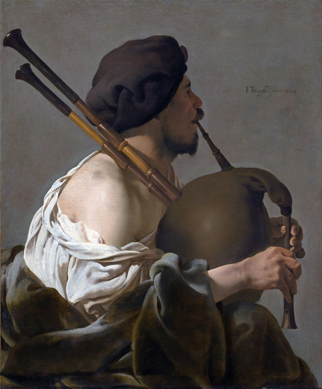 Hendrick ter Brugghen, Baroque, Art, Bagpipe, Player, doedelzakspeler