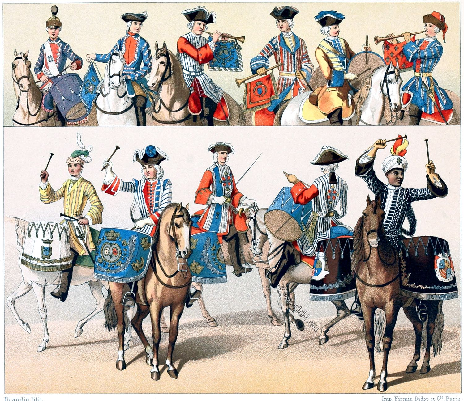 Cavalry, France, Military, royal livery, uniforms,