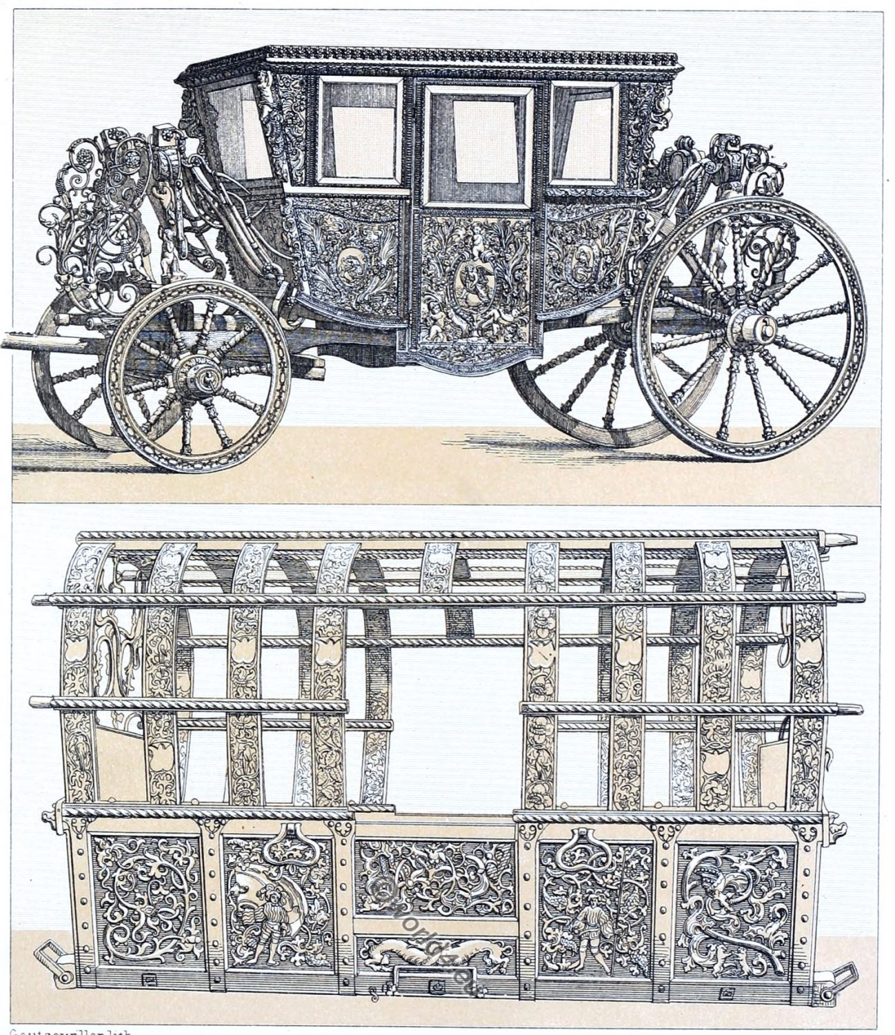 Carosses, carriages, coaches, Baroque, Transportation,