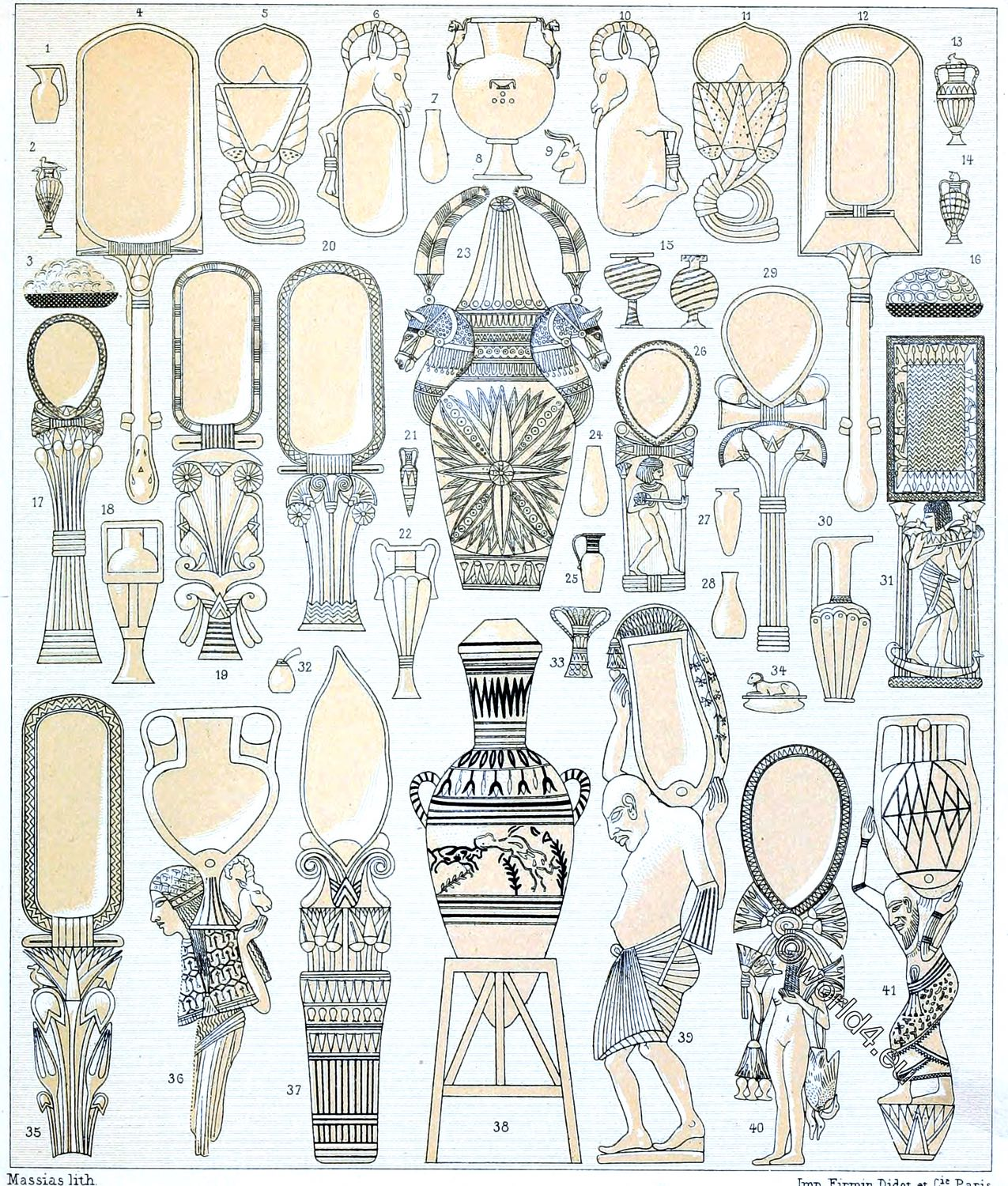 Egyptian, domestic, appliances, amphora, vases, vessels, ointments, perfumes