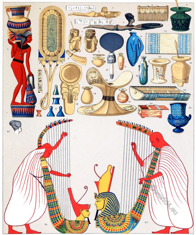 Egyptian, household, appliances, Priestly, clothing, Schenti, Kalasiris