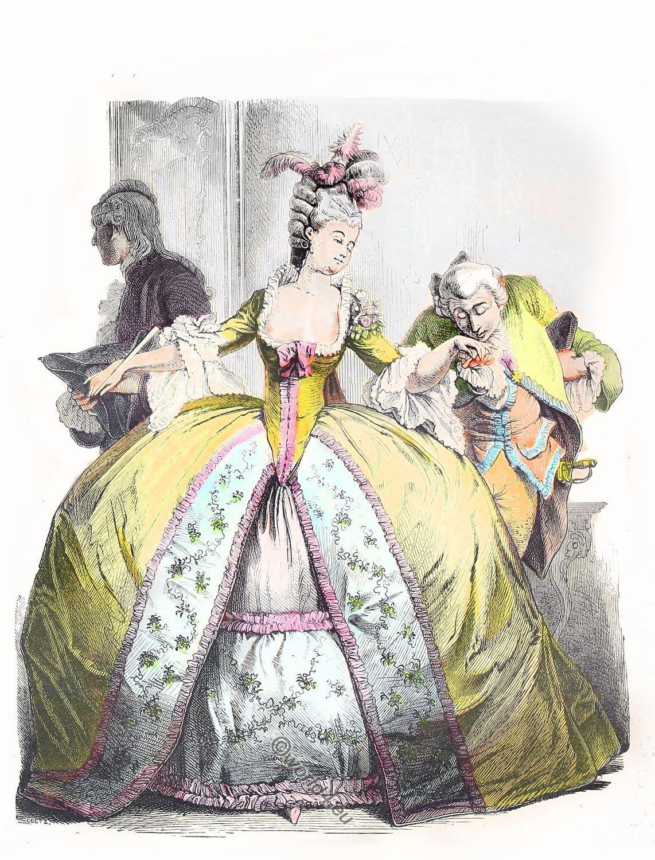 hoop skirt, Rococo, farthingale,