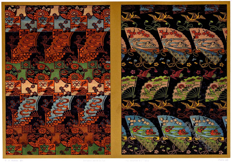 Rich, Luxurious, Silk, Fabrics, Japan, ornamental, arts