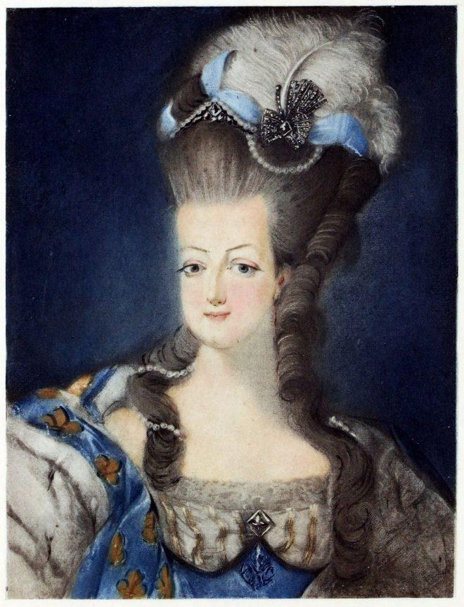 Portrait, Marie-Antoinette, Jean-Baptiste André Gautier-Dagoty