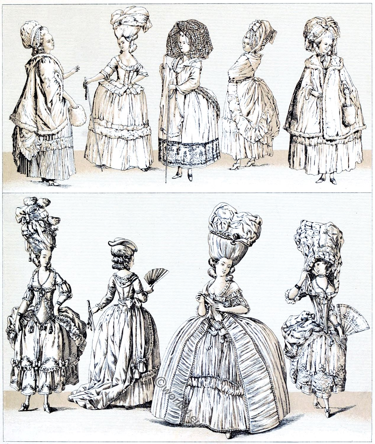 rococo, clothes, hairstyle, extravagance, luxury, costumes, fashion,