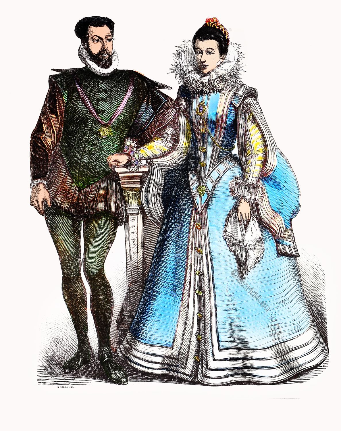 Renaissance, court, Spanish, clothing, fashion, costumes, baroque,