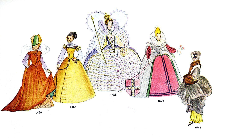 The hoop, skirt, Spanish, fashion, Vertugado, Renaissance, fashion, costumes