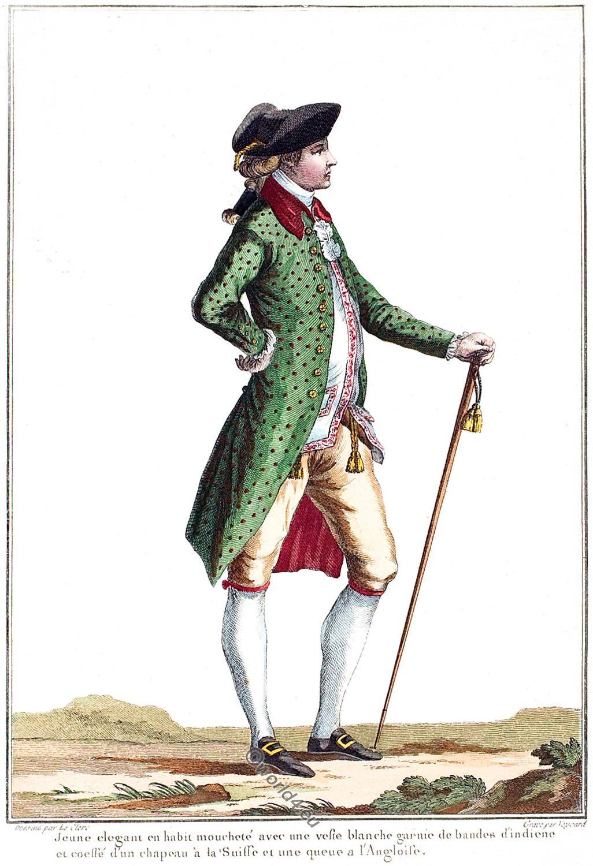 Tailcoat, Rococo, Fashion, 18th century, Modes,  Costumes, Français
