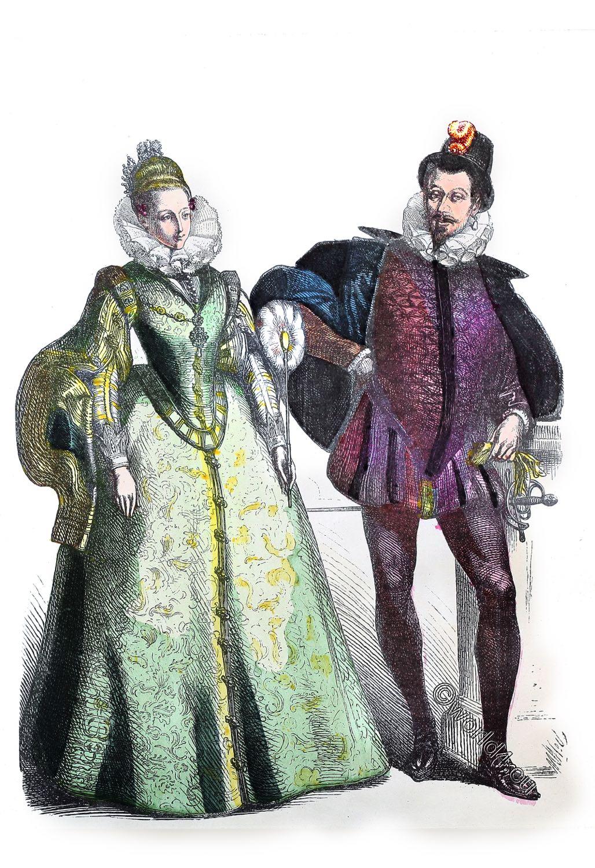 vertugado, Spanish, fashion, Court dress, nobility, Renaissance, costumes,