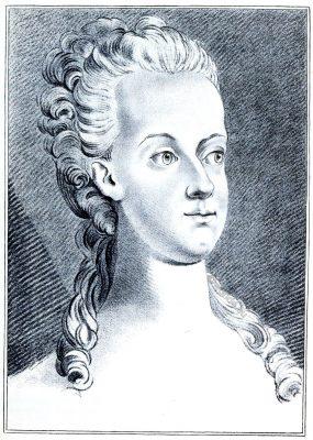 young, Marie Antoinette, portrait,