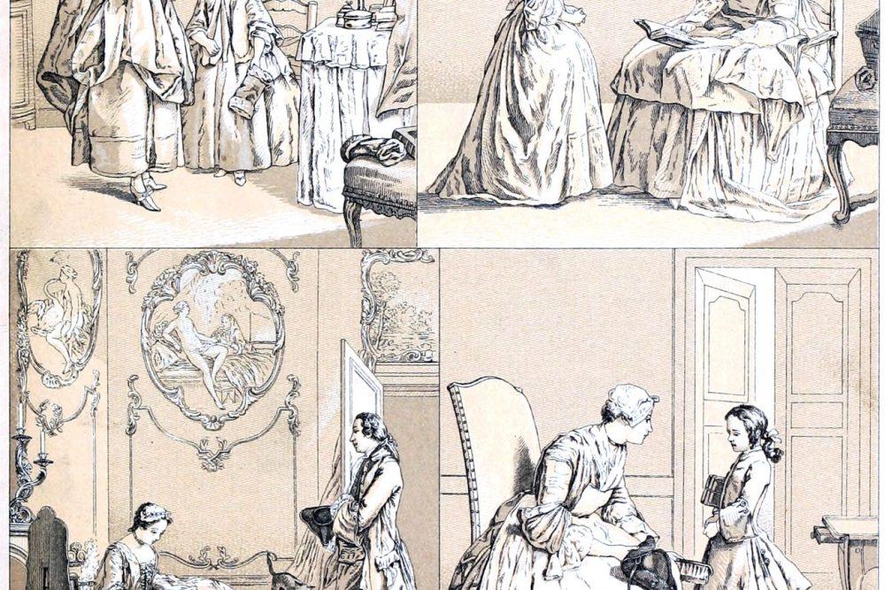 Bourgeois, France, rococo, costumes, Racinet, 18th century,