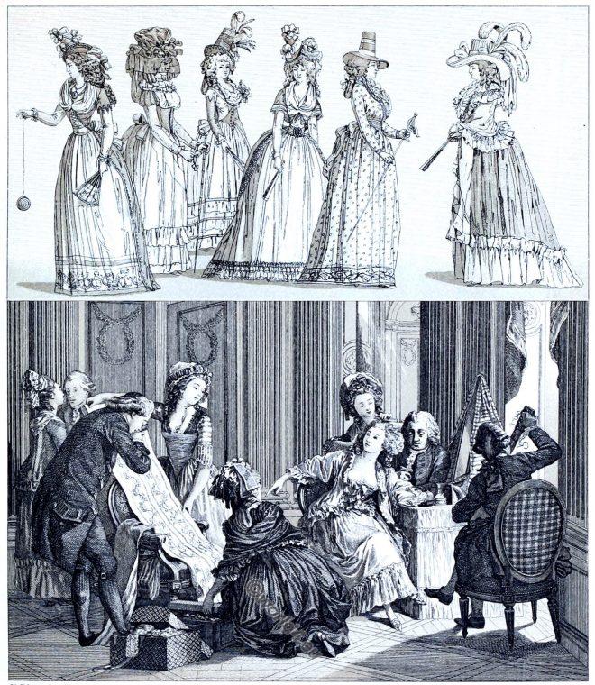 grand lever, rococo, Toilette, lady, fashion, rococo, france