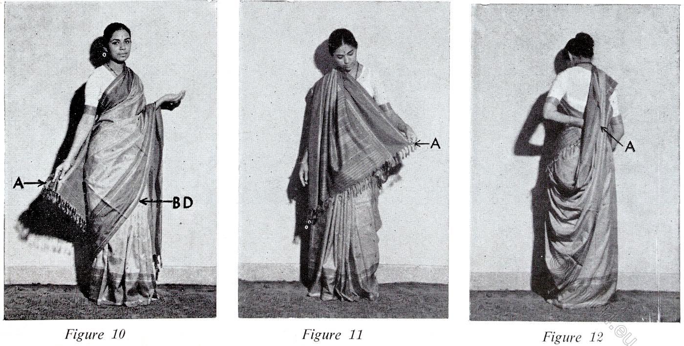Gujarati, Style, Sari, India, wearing, tutorial,
