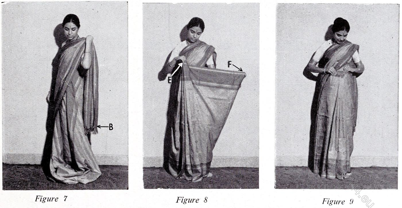 pallav, Sari, India, wearing, tutorial,