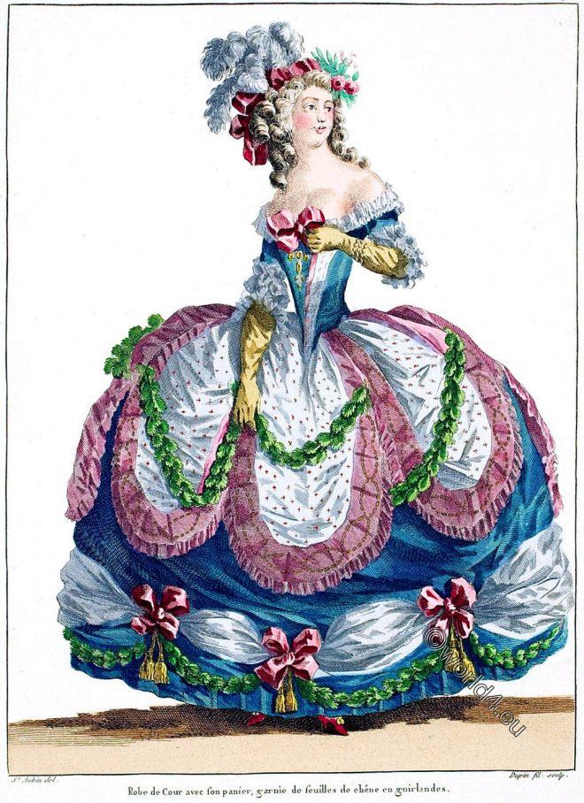 Robe, Cour, rococo, costume, fashion, lLouis XVI