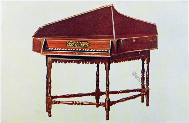 Spinet, Stephen Keene, England, Baroque, Instrument, Music