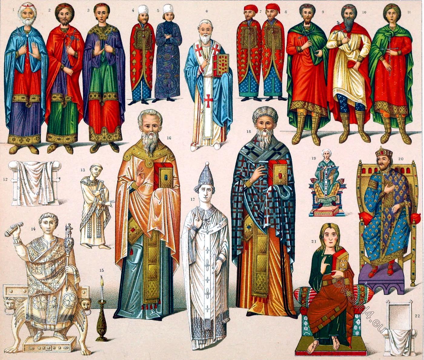 Byzantine, emperor, Auguste Racinet, Roman, Consul, Ascetics, Consul, patrician,