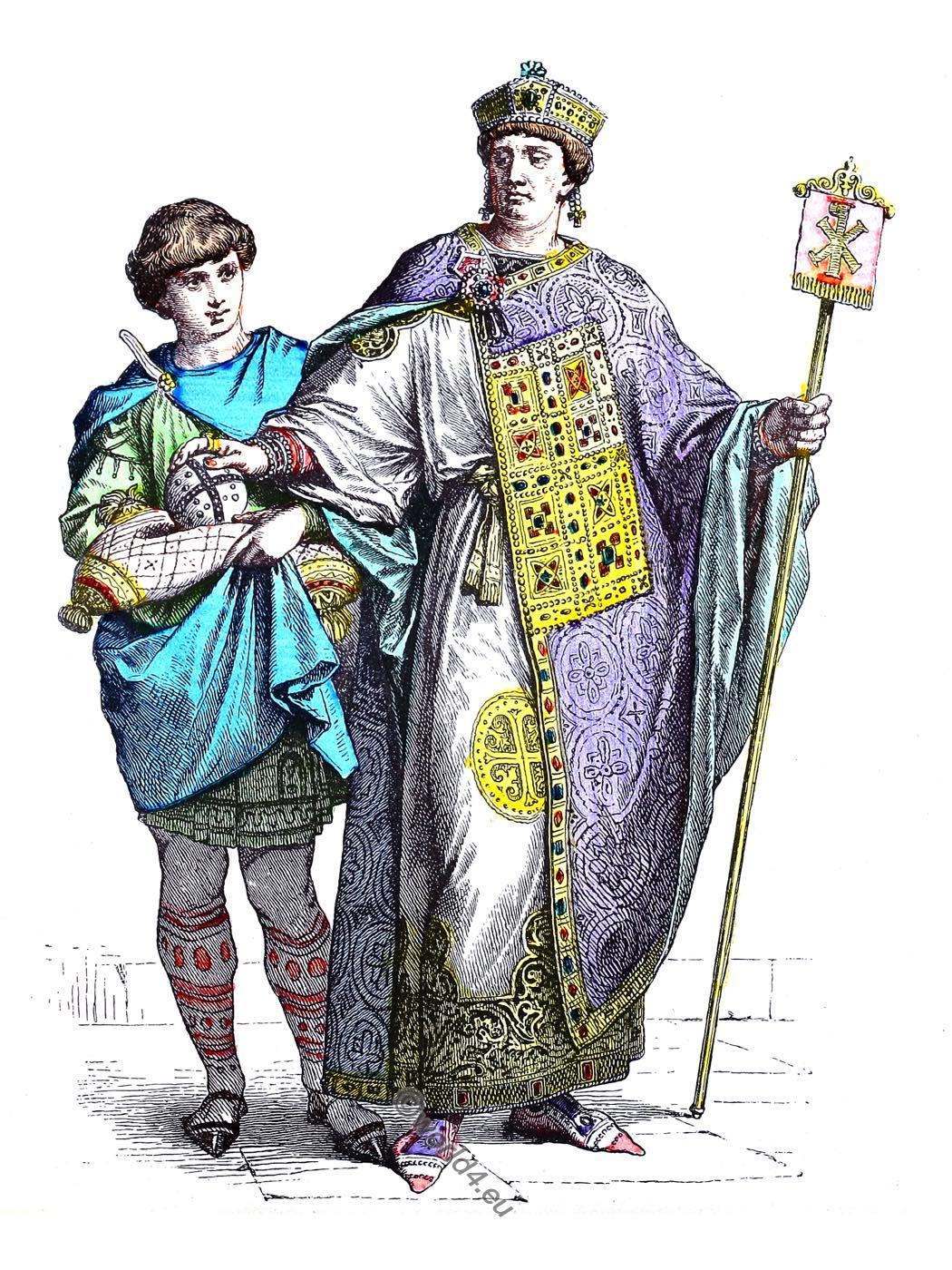 Costume, Noble, boy, Byzantine, Emperor, clothing