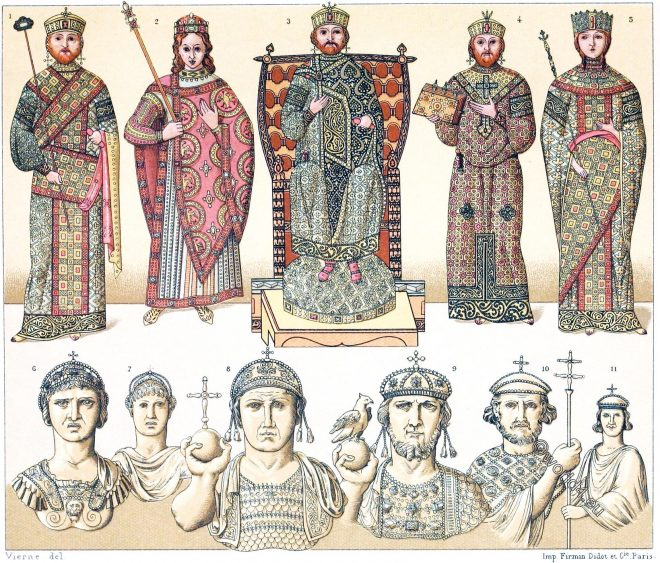 Byzantine, Eastern Roman Empire, costume, clothing, vestments, emperors, empresses,