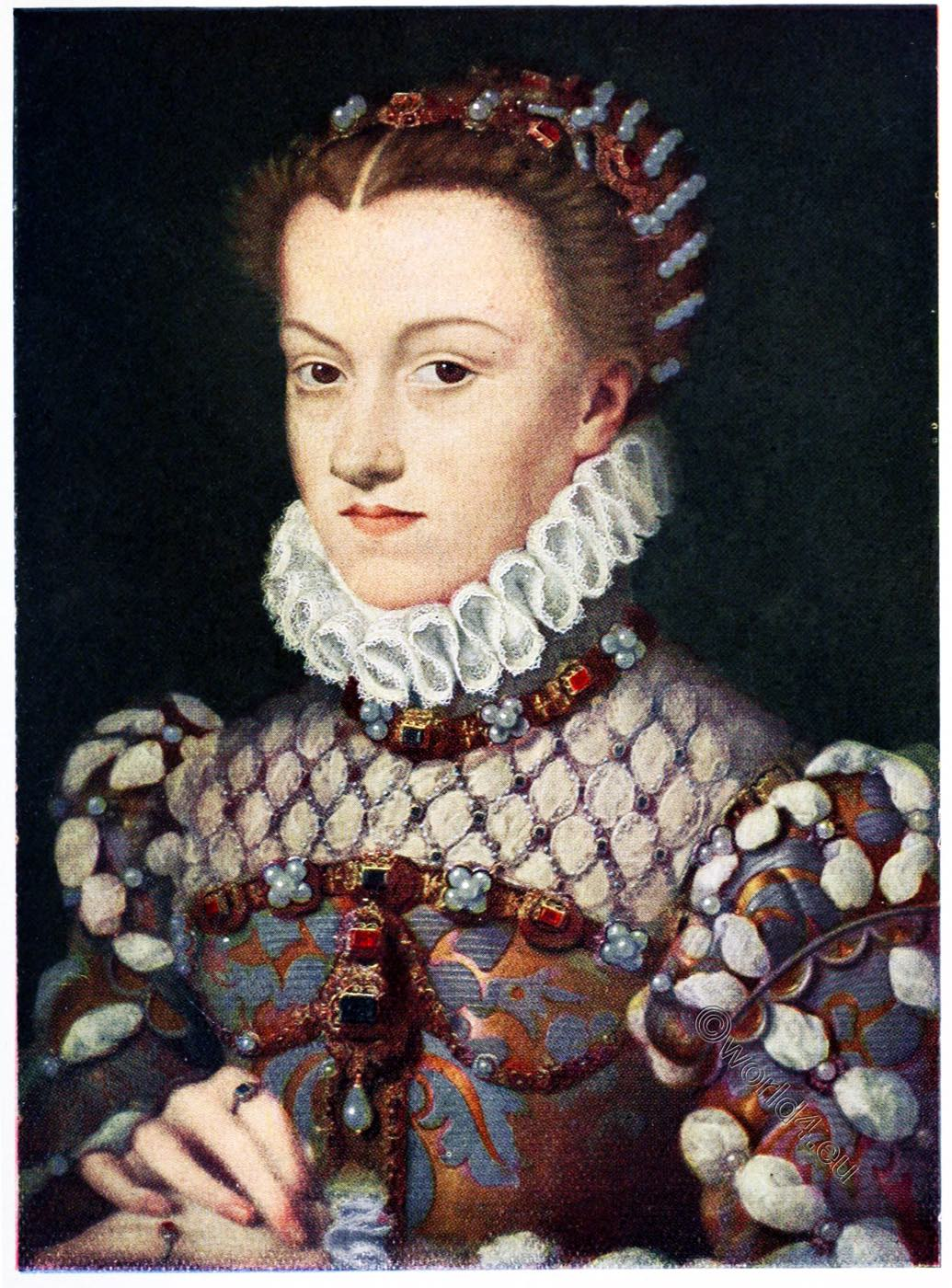 Elisabeth of Austria , portrait, François Clouet, Renaissance