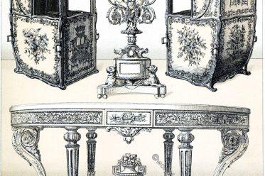 rococo, furniture, Candelabra, carriage, litter, sedan chair, palanquin, chair, sedan, howdah