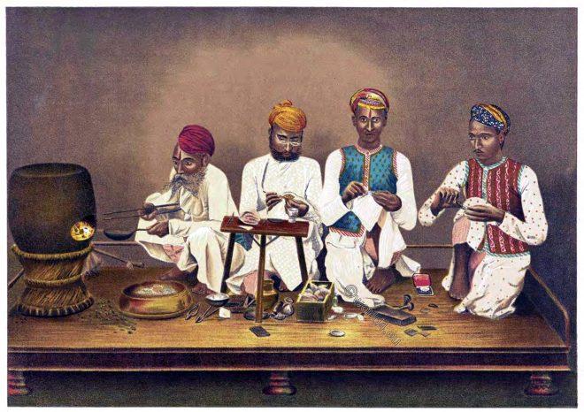 Jaipur, Enamelers, India, craft, Thomas Holbein Hendley