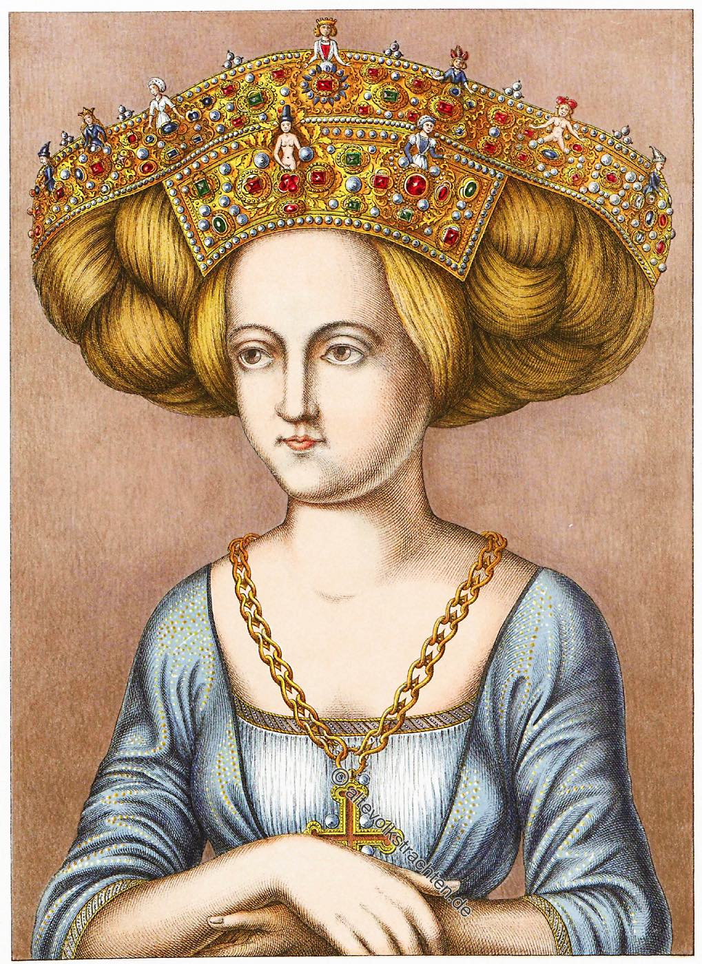 Nuremberg, patrician, bridal, crown, Renaissance, Hefner-Alteneck, Patriciate