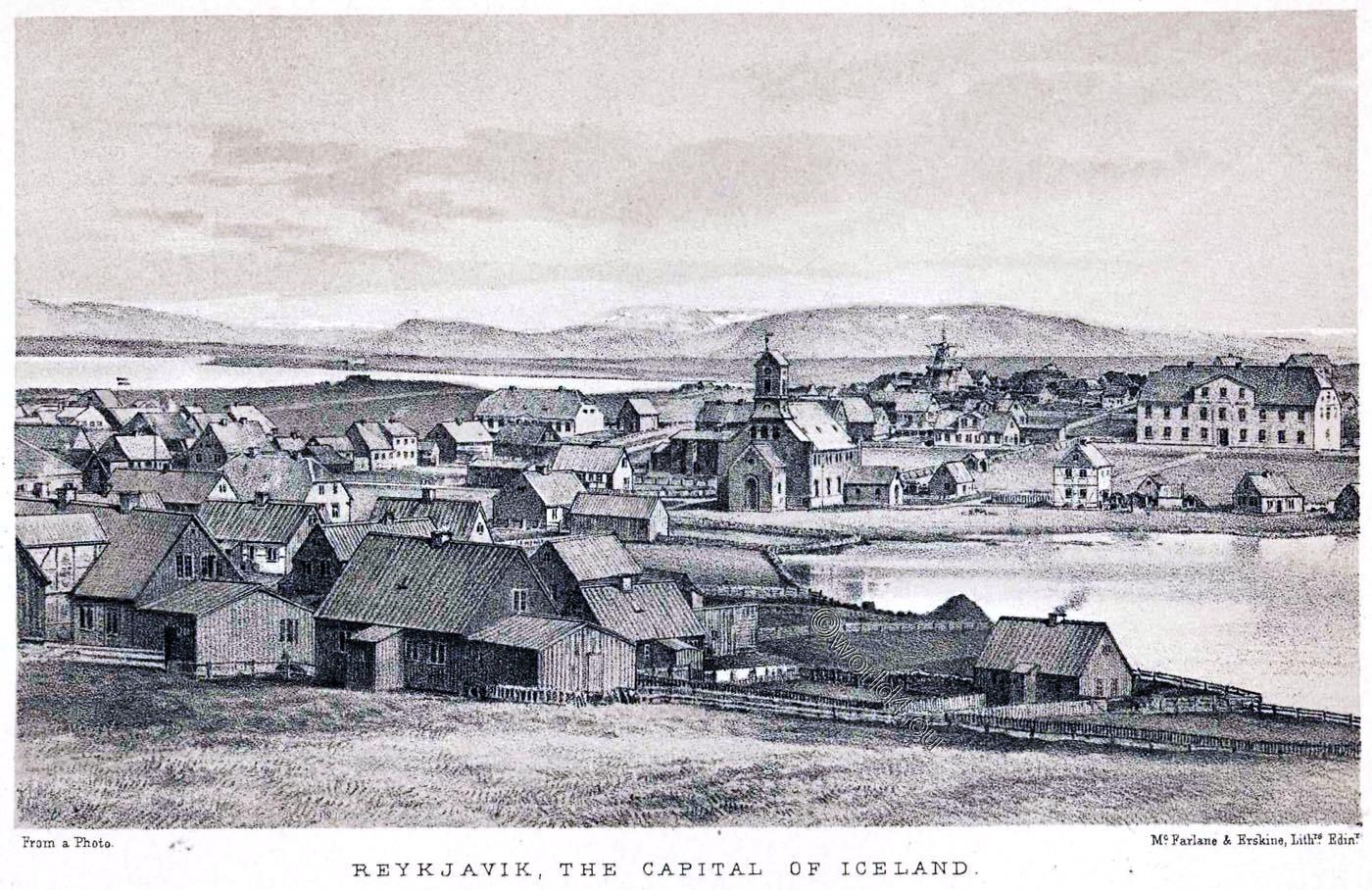 Reykjavík, capital, Iceland, Illustration, History,