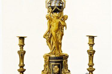 Pendulum, clock , Rococo, ean-Joseph, Saint-Germain,