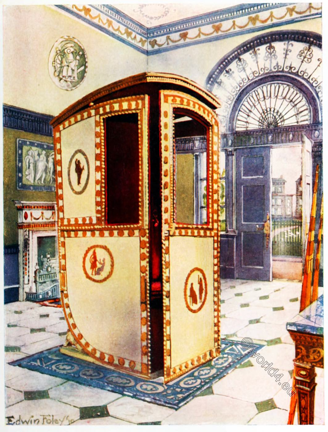 Sedan Chair Designed By The Brothers Adam England 1776