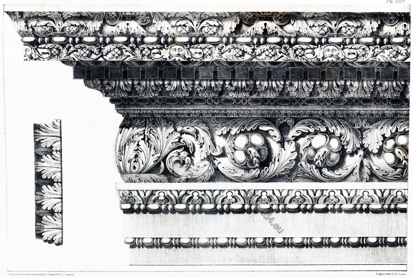 Entablature, Goldsmith, Arch, Rome, Capital, Ornament, Decoration, Architecture, antiquities,