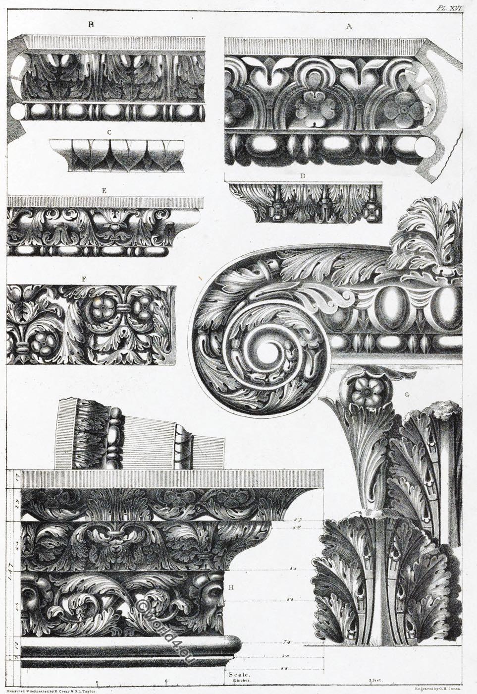 Arch, Septimius, Severus, Rome, Capital, Ornament, Decoration, Architecture, antiquities,