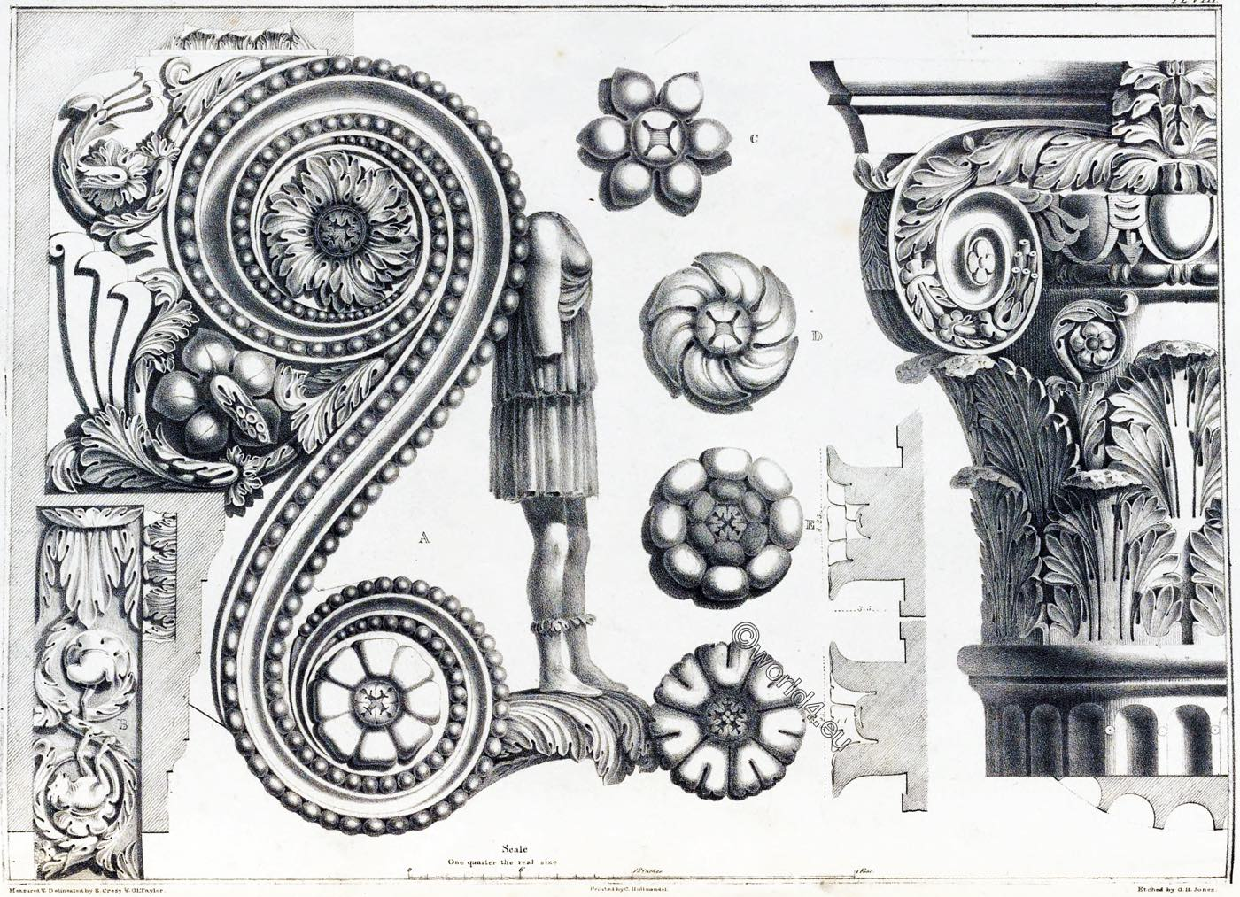 Arch, Titus, columns, key-stone, Rome, Ornament, Decoration, Architecture, antiquities,