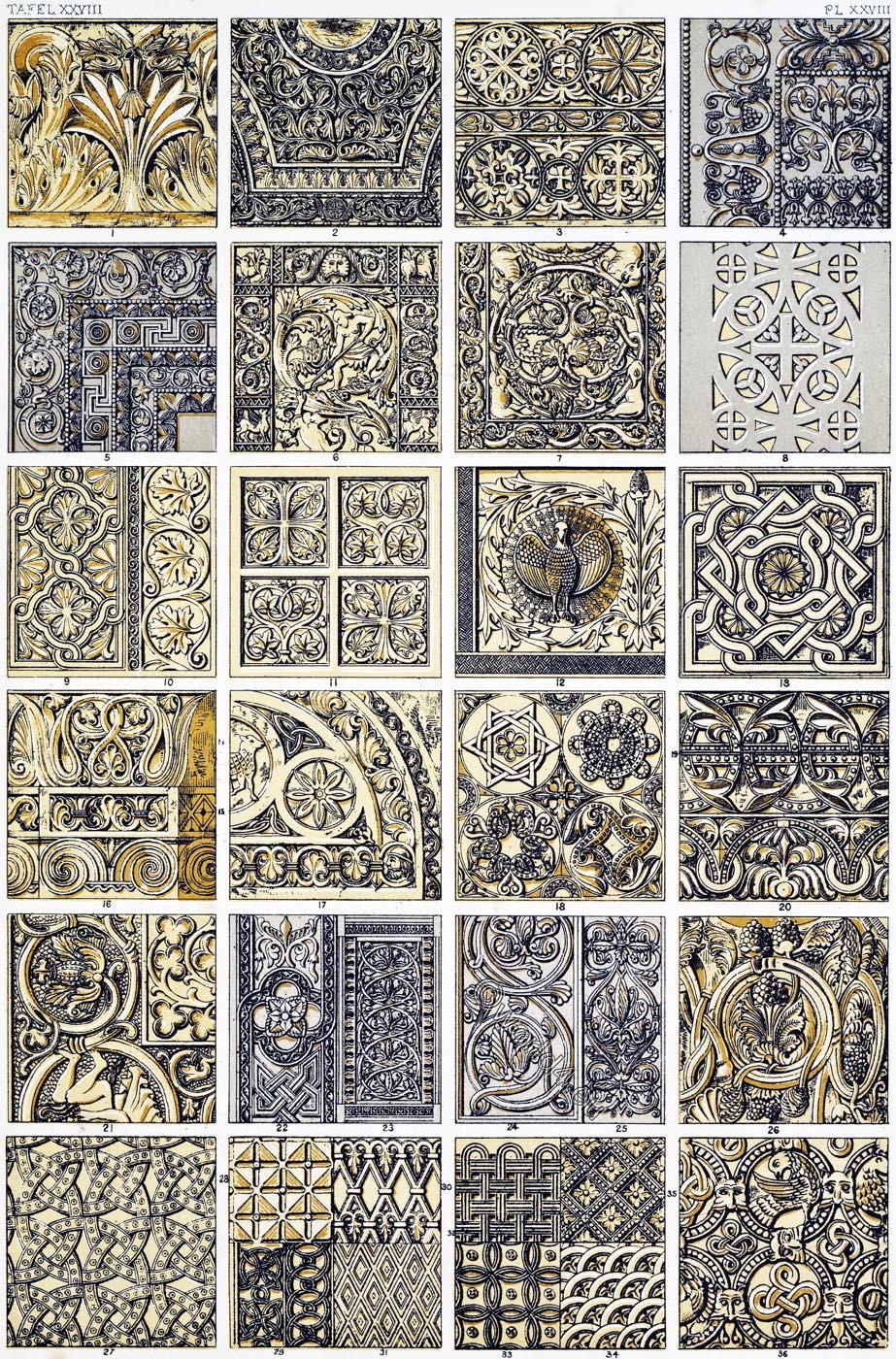 Owen Jones, Byzantine, ornament, Sofia, Constantinople, Friezes, Monreale