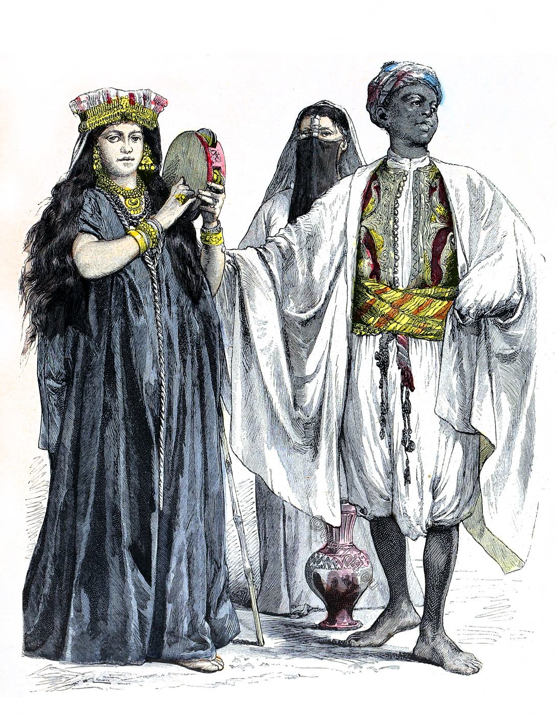 Egypt, Traditional, musician, Tambourine, player, water wearer, Servant, dress, costume, clothing