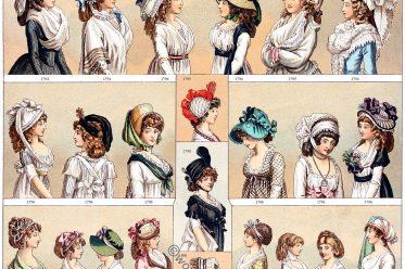 1794, Female, costumes, fashion, Postiche, Cul, costumes, modes,
