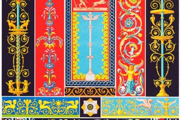 Greek-Roman, art, Pompeii, Herculaneum, Ornaments, Mosaics, bas-reliefs, wall paintings,