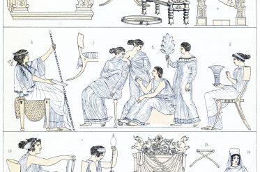 Greece, Rome, furniture, Throne chair, Bisellium, Klismos, Diphros, Sella castrensis